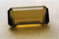 Fig. 2. A faceted common 'sun' Opal from Australia. (Photograph, G. Brown).