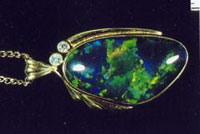 Fig. 15A. A Gilson™ synthetic black opal. (Photograph, G. Brown)