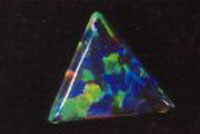 Fig. 16. A 'thin-film' imitation dark opal by Pauley. (Photograph, R. Weber)